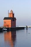 Faro di Michigan di lago all'indicatore luminoso di mattina Fotografia Stock