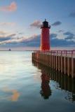 Faro di Milwaukee. Immagini Stock