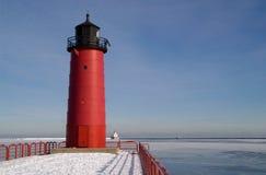 Faro di Milwaukee Pierhead Fotografie Stock Libere da Diritti