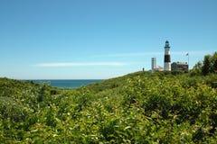 Faro di Montauk, Long Island New York, U.S.A. Immagini Stock Libere da Diritti