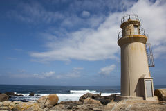 Faro di Muxia, morte del da della Costa Fotografie Stock