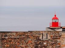 Faro di Nazaré fotografia stock libera da diritti