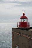 Faro di Nazare, Portogallo Fotografia Stock