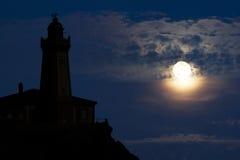 Faro di Nigthly Fotografia Stock Libera da Diritti