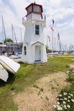 Faro di Oakville dal lago Ontario immagine stock libera da diritti