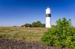 Faro di Ottenby - vista della costa di mare Fotografia Stock