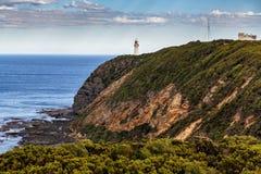 Faro di Otway del capo, grande strada dell'oceano, Victoria, Australia fotografie stock libere da diritti