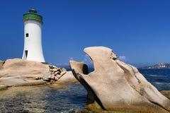 Faro di Palau in Sardegna, Italia Immagini Stock