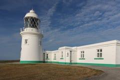 Faro di Pendeen in Cornovaglia Inghilterra Regno Unito Fotografie Stock Libere da Diritti