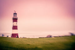 Faro di Plymouth Fotografia Stock