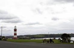 Faro di Plymouth, torre di Smeatons in zappa di Plymouth, Inghilterra Fotografia Stock