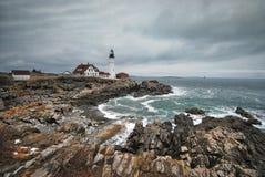 Faro di Portland in Maine Fotografia Stock