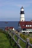 Faro di Portland in Maine Fotografie Stock