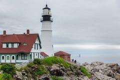 Faro di Portland, Maine, U.S.A. fotografia stock
