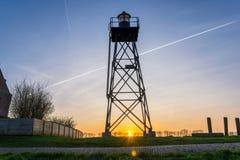 Faro di precedente isola Schokland, Paesi Bassi fotografia stock libera da diritti
