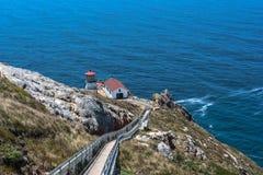 Faro di Reyes del punto, California fotografie stock