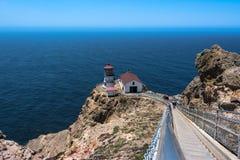 Faro di Reyes del punto, California fotografia stock