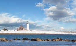 Faro di Scituate in riva del sud di Boston Immagine Stock Libera da Diritti