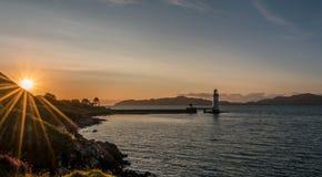 Faro di Tobermory, Scozia Immagini Stock Libere da Diritti