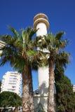 Faro di Torre Del Mar, Spagna Fotografia Stock Libera da Diritti