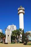 Faro di Torre Del Mar, Spagna Immagine Stock Libera da Diritti