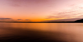 Faro di tramonto Immagini Stock Libere da Diritti