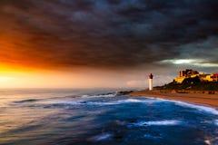 Faro di Umhlanga a Durban fotografie stock libere da diritti
