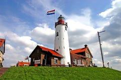 Faro di Urk - Urk - l'Olanda Immagine Stock