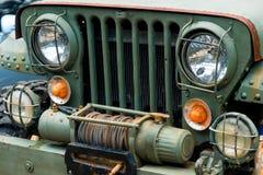 Faro di vecchia automobile militare Immagini Stock Libere da Diritti