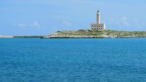 Faro di Vieste - Vieste Lighthouse sea background - in Gargano area , Apulia region, Italy stock footage