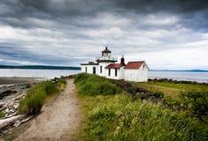 Faro di West Point, Seattle, Washington Fotografia Stock Libera da Diritti