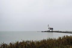 Faro distante Fotografie Stock Libere da Diritti