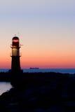 Faro dopo il tramonto Fotografia Stock