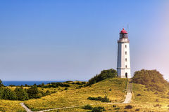 Faro Dornbusch en la isla de Hiddensee Foto de archivo libre de regalías