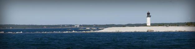 Faro durante il summer.GN Fotografie Stock
