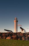 Faro e cannoni a wollongong Immagine Stock