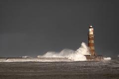 Faro e pilastro di Roker Fotografie Stock