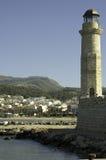 Faro e porto di Chania Immagini Stock