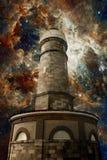 Faro ed i precedenti della nebulosa della tarantola (elementi di questo Fotografia Stock Libera da Diritti