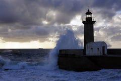 Faro ed oceano Fotografia Stock