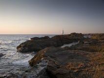 Faro en Ahtopol Fotos de archivo libres de regalías