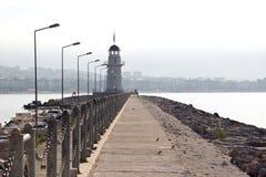 Faro en Alanya, Turquía Imagenes de archivo