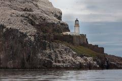 Faro en Bass Rock   Foto de archivo