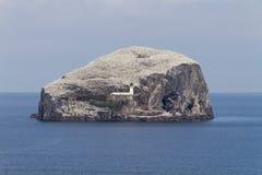 Faro en Bass Rock, Escocia fotografía de archivo libre de regalías