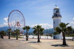 Faro en Batumi, Georgia Imagen de archivo libre de regalías