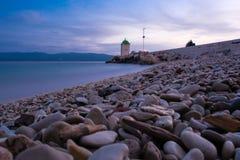 Faro en Brac, Croacia Foto de archivo libre de regalías