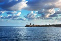 Faro en Castillo del Morro Imagenes de archivo