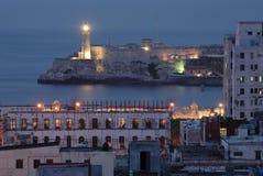 Faro en Castillo del Morro Fotos de archivo