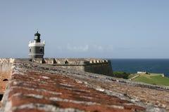 Faro en Castillo San Felipe del Morro Imagen de archivo libre de regalías
