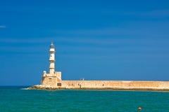 Faro en Chania Imagen de archivo libre de regalías